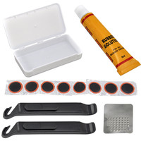 Good deal Bicycle Cycle Bike Puncture Repair Outfit Patched Kit