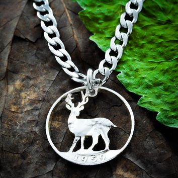Buck Necklace, Deer Hunting Gift by Namecoins