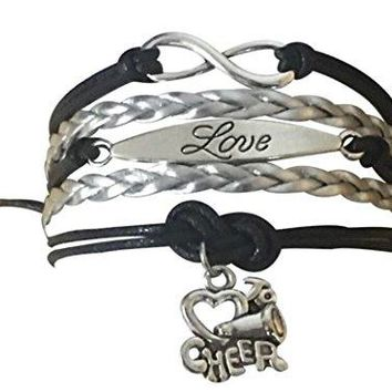 Girls Cheer Love Infinity Bracelet