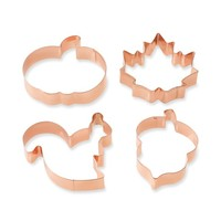 Williams-Sonoma Fall Copper Cookie Cutter Set on Ring