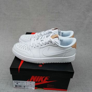 Air Jordan 1 Retro AJ1 Low White Men Sport Sneaker