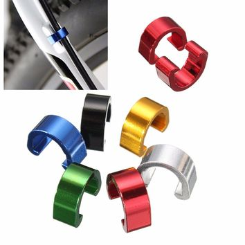 New 10 pcs/pack 12 X 10 mm MTB BMX Road Mountain Bike Cable C-Clips Buckles Bicycle C-Clips Buckle Cable Guides Brake Hose Parts