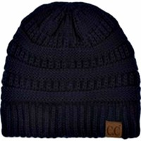 CC Thick Knit Beanie, Navy