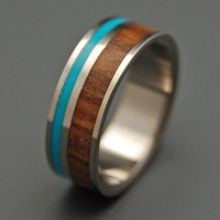 Fancy - Wooded Cove Koa Wood and Turquoise Inlay