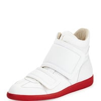 Clinic Grip-Strap High-Top, White/Red - Maison