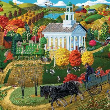 A Country Church 500pc Jigsaw Puzzle