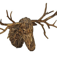 Driftwood Deer Head
