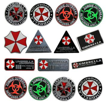Car Stickers Metal Aluminum Motorcycle Tank Helmet Decal for Umbrella Corporation Resident Evil  RESPONSE UNIT
