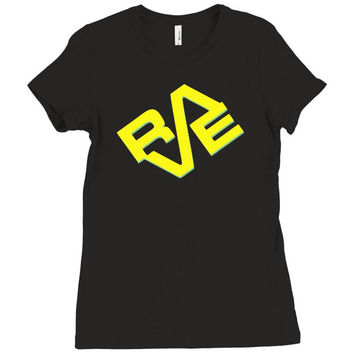 rave Ladies Fitted T-Shirt