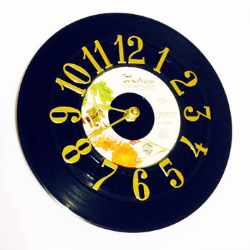 Vinyl Record Clock, Record Clock, Wall Clock, Prince Record, Recycled Record, Upcycle, Battery & Wall Hanger included, Item #35