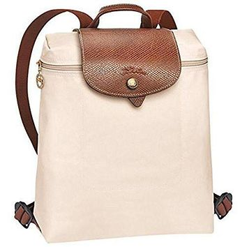 VON7Y1 Beauty Ticks Longchamp Le Pliages Backpack Ivory