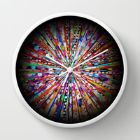 A Day at the Circus Wall Clock by CharmHappens