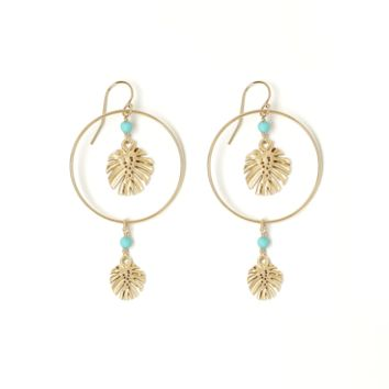 Eclipse Gold Leaf Duo Earring