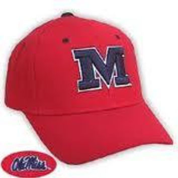 "NCAA Ole Miss Rebels Top Of The World Red Hat With Block ""M"""
