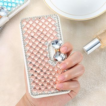 KISSCASE Luxury Diamond Wallet Stand Case For iPhone 6 6s 7 7 Plus Bling Glitter Rhinestone Cover For iPhone 6 6S Plus 5S SE 5