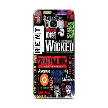 Broadway Musical Collage Samsung Galaxy S8 | Galaxy S8 Plus Case