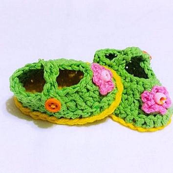 Baby Crochet Shoes, Baby Loafers, Newborn Girls Shoes, Baby Ballet Shoes, Flower Baby Shoes, Shower Gift Girls, Baby Girl Gift Baby Sandals