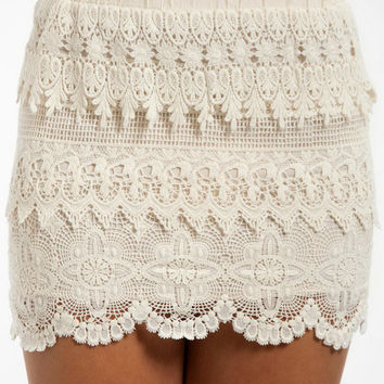 Lace Tiers Skirt