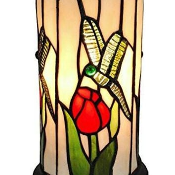 Tiffany Style Dragonfly Mini Table Lamp 10 Inches Tall
