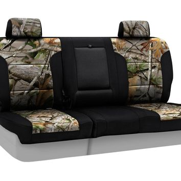 Coverking Rear 60/40 Bench Custom Fit Seat Cover for Select Nissan Titan Models - Neosupreme Next Camo (Vista with Black Sides)