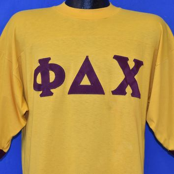 80s Phi Delta Chi Fraternity Jersey t-shirt Large
