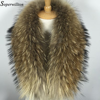 2016 New Winter 100% Raccoon Fur Real Natural Fur Collar & Womens Scarfs Fashion Coat Sweater Scarves Collar Luxury Neck Cap D88