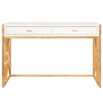 Worlds Away Cordelia Gold Desk