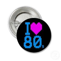COREY TIGER 1980s RETRO I HEART 80's LOVE Button from Zazzle.com