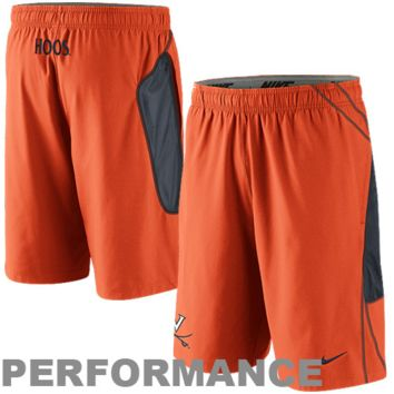 Nike Virginia Cavaliers Woven Replica Lacrosse Performance Shorts - Orange