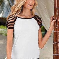 Strappy sleeve top by VENUS