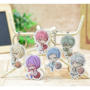 Kuroko no Basket acrylic Keychain Pendant Car Key Accessories Cute Japanese Cartoon Kuroko's Basketball 6 Styles H004 LTX1