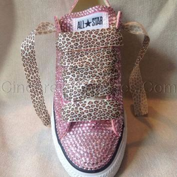 ICIKGQ8 diamante crystal covered converse wedding prom shoes trainers custom made pink