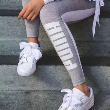 Puma Fashion Gym Yoga Running Leggings Sweatpants