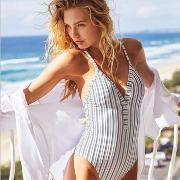 Hot Swimsuit New Arrival Summer Sexy Stripes Stylish Beach Swimwear Bikini [1400290574372]