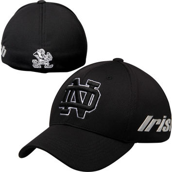 Notre Dame Fighting Irish Top of the World Mens Ultrasonic Memory Fit Flex Hat – Black