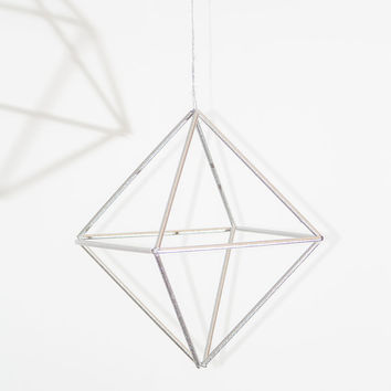 PDF DIY instructions to make geometric christmas ornament, mobile, ornament for modern minimalist interiors