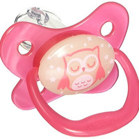 Dr. Brown's PreVent Contour Glow in the Dark Pacifier, Stage 2 (6-12m), Pink, 4-Pack