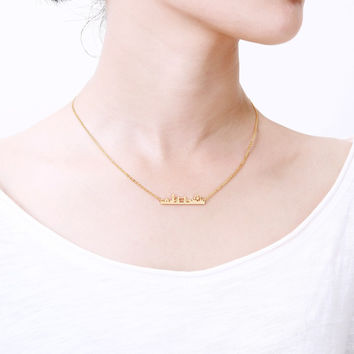 N00210 Skyline City London Necklace Statement 2016 Jewelry Gold Plated Stainless Steel Cityscape Boho Necklace BFF Gift