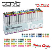 Original Copic Markers Japan Origin Set Double Headed Marker Pen Paint Sketch Markers for Drawing 12 / 72 Colors Skin Coloring Copic Marker