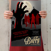 "Buffy the Vampire Slayer - ""Welcome to the Hellmouth"" Digital Art 11x17 Poster Print"