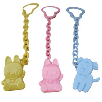 Safety Baby Anti-loss Animal Pacifier Chain