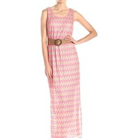Jessica Howard Women's Chevron Maxi Dress