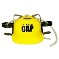 """2 Can """"Thinking Cap"""" Beer Drinking Hard Hat"""