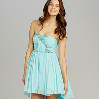 Jodi Kristopher Spaghetti-Strap Embellished Dress | Dillards.com