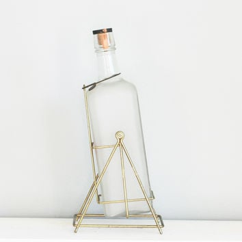 Vintage: Huge Gilbey's Gin Bottle on retro stand