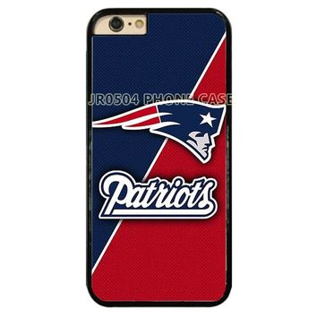 New England Patriots Red and Blue PC+TPU Edge Cell Phone Case Cover Fits For iphone XS MAX XR X 5 6 6s 6 7 8 7 8 plus CAPE #243