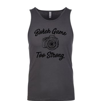 Bokeh Game Too Strong Men's Tank