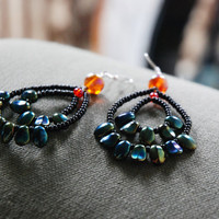 Leafy Hoops Earrings