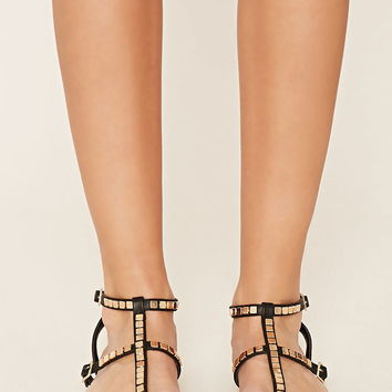 Studded Strappy Sandals | Forever 21 - 2000153639