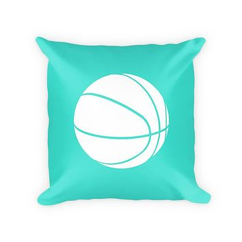 Kids Basketball Woven Cotton Throw Pillow